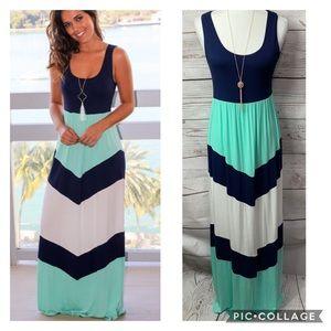 NWT Bellami Chevron Tank Maxi Dress